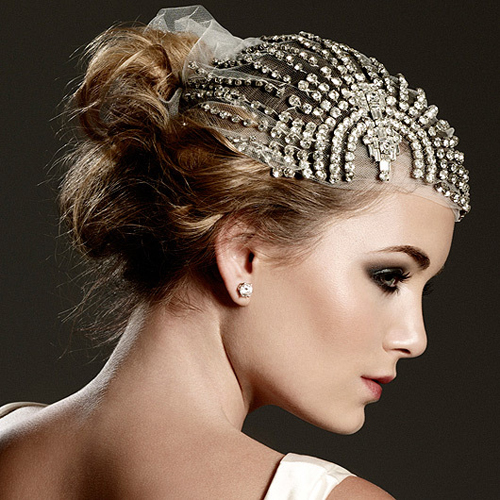 Wedding bridal hairstyles 2012 part 2 - Art Of Bridal Beauty By Aradia 187 Art Deco Wedding Glamour