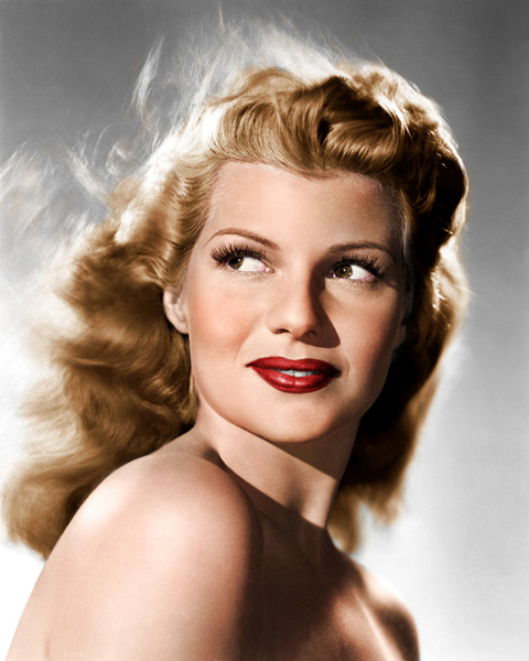1940's Icon Rita Hayworth served her patriotic duty by wearing red.