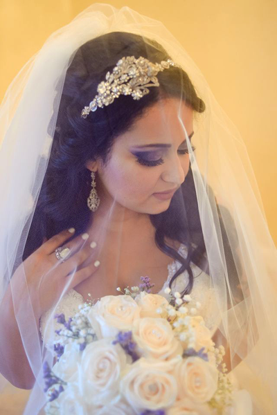 Bridal Hair & Makeup For Violet Inspired Wedding